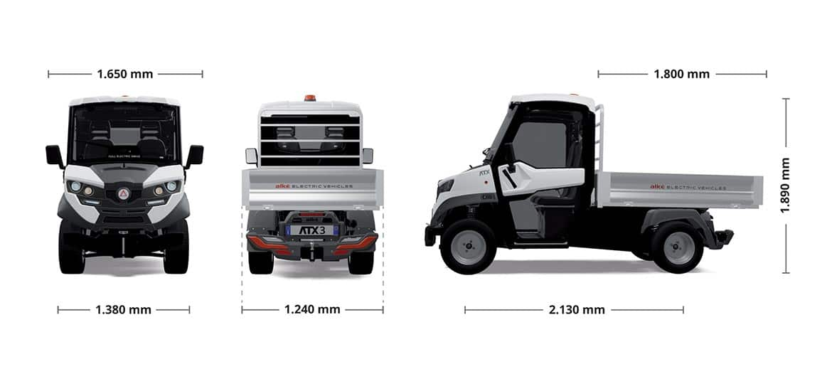 alke atx320e electric vehicles dimensions Industrial Electric Vehicles & Accessories