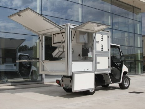 Pizza Vending Van - Industrial Electric Vehicles