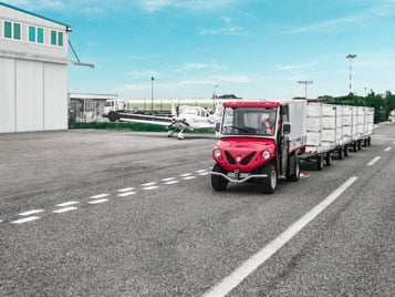 Vehicles With Utility Trailer - Industrial Electric Vehicles