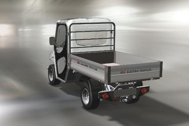 Electric utility vehicles with tippers