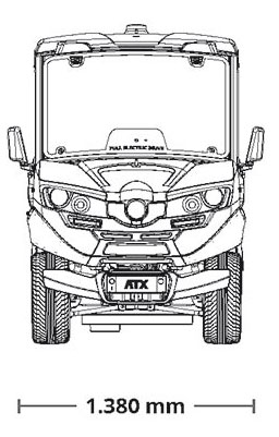 Small Electric Pick-up ATX 310E Industrial Electric Vehicles & Accessories