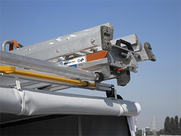Utility Vehicle with Ladder Racks - Industrial Electric Vehicles