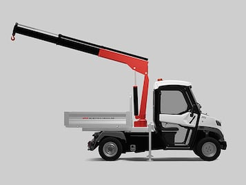 Small Crane Truck - Industrial Electric Vehicles