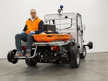 Rail tunnel ambulance vehicle alke Industrial Electric Vehicles & Accessories