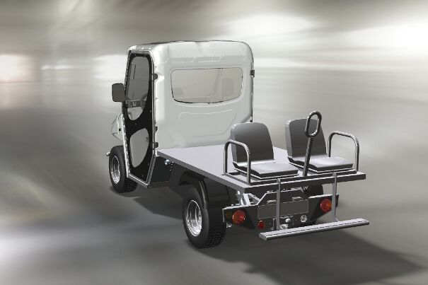 Small zero emissions vehicle for transporting people