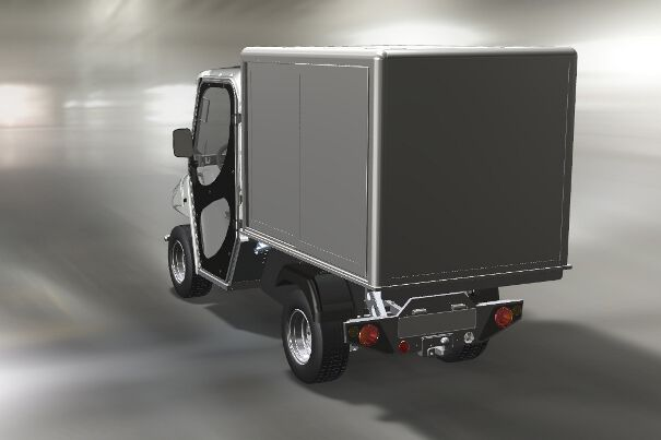 Zero emissions vehicle with closed cargo bed